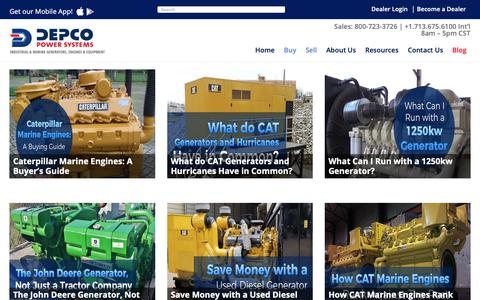 Screenshot of Blog depco.com - Blog - Depco Power Systems, Inc - captured Oct. 8, 2018