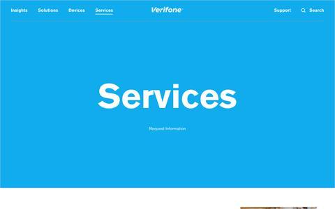 Screenshot of Services Page verifone.com - Services | Verifone.com - captured Sept. 7, 2017