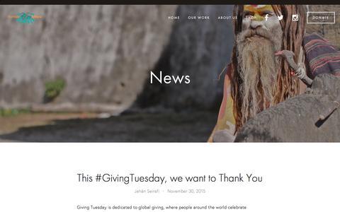Screenshot of Press Page sunsarmaya.org - News — Sunsar Maya - captured Feb. 25, 2016