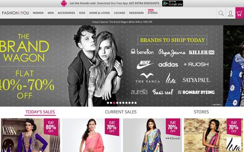 Screenshot of Home Page fashionandyou.com - Online Shopping India: Latest Trends in Fashion Clothing - captured Oct. 1, 2015