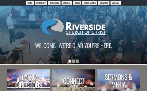 Screenshot of Home Page riverside-church.org - Riverside Church Of Christ | Coppell TX - captured June 16, 2016