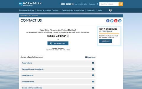Screenshot of Contact Page ncl.com - Contact Us -UK- - captured Nov. 27, 2016