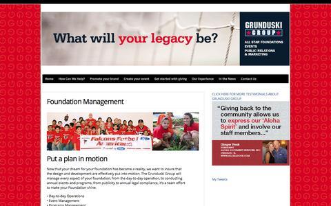 Screenshot of Team Page grunduskigroup.com - Foundation Management  : Grunduski Group - captured Feb. 2, 2016