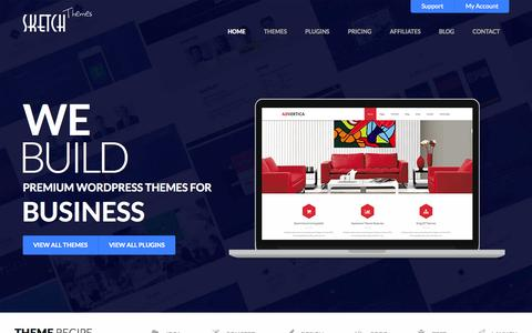 Screenshot of Home Page sketchthemes.com - Premium WordPress Themes & Plugins by SketchThemes - captured Oct. 17, 2015
