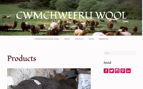 Screenshot of Products Page wordpress.com - Products – CWMCHWEFRU WOOL - captured Jan. 15, 2018