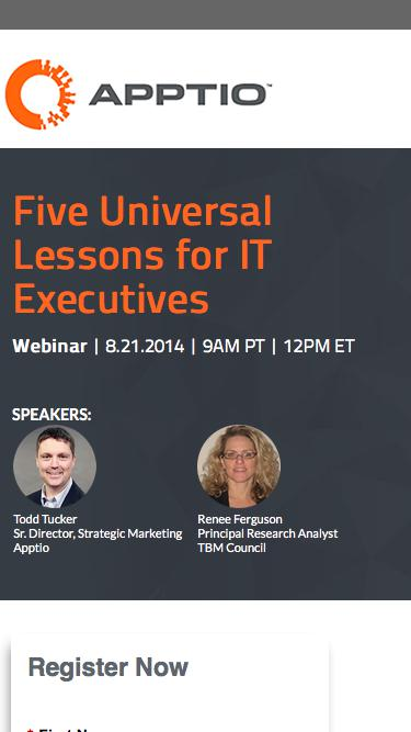 Webinar: Five Universal Lessons for IT Executives