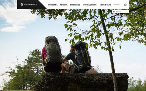 Screenshot of Home Page ferrino.it - Ferrino   Contemporary Outdoor Since 1870 - captured Sept. 23, 2014