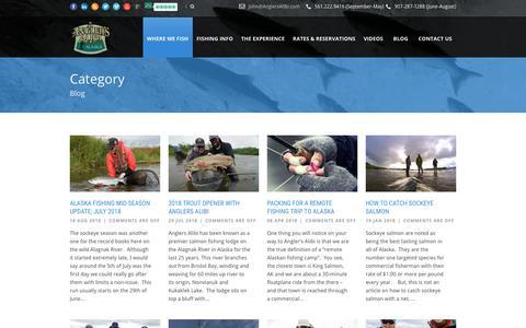 Screenshot of Blog anglersalibi.com - Anglers Alibi  Blog Archives - Anglers Alibi - captured Oct. 3, 2018
