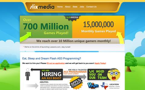 Screenshot of Developers Page slixmedia.com - Slix Media - Leading the Industry - captured Nov. 3, 2014