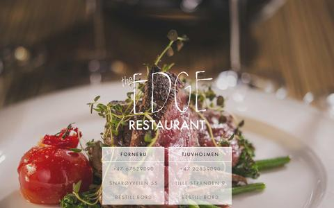 Screenshot of Home Page theedgerestaurant.no - The Edge Restaurant - Biff restaurant på tjuvholmen. - captured Feb. 15, 2016