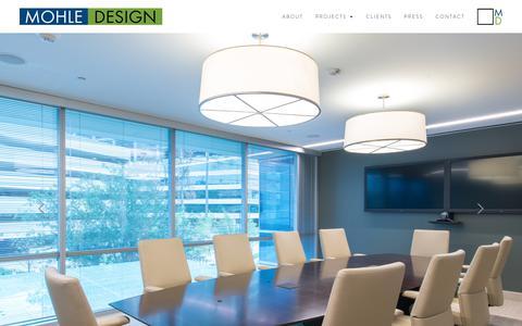 Screenshot of Home Page mohledesign.com - Mohle Design - captured Oct. 18, 2018