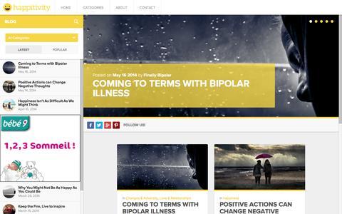Screenshot of Home Page happitivity.com - Happitivity | Happiness through positivity - captured Sept. 29, 2014