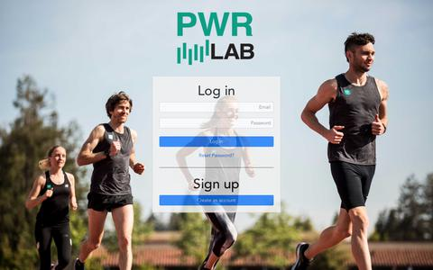 Screenshot of Signup Page Login Page pwrlab.com - PWR LAB - captured Sept. 30, 2018