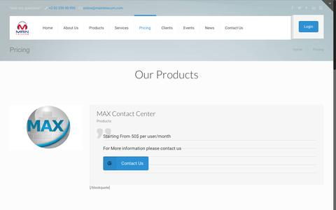 Screenshot of Pricing Page maintelecom.com - Pricing | MainTelecom for VOIP & Contact Centers In Cairo, Egypt - captured July 20, 2016