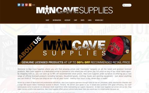 Screenshot of About Page mancavesupplies.com.au - Man Cave Supplies | About Us - captured May 28, 2017