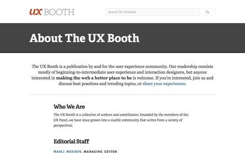 About The UX Booth | UX Booth