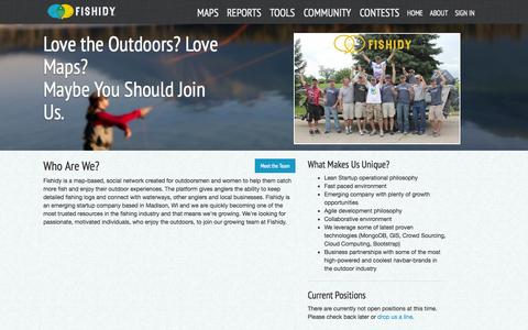 Screenshot of Jobs Page fishidy.com - Find a Career Opportunity at Fishidy - captured Sept. 23, 2014