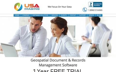 Screenshot of Trial Page usa-imaging.com - FREE Document Management Software in Poway and San Diego - captured Nov. 18, 2016
