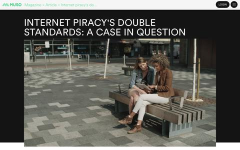 Screenshot of Case Studies Page muso.com - Internet piracy's double standards: a case in question - captured Jan. 14, 2020