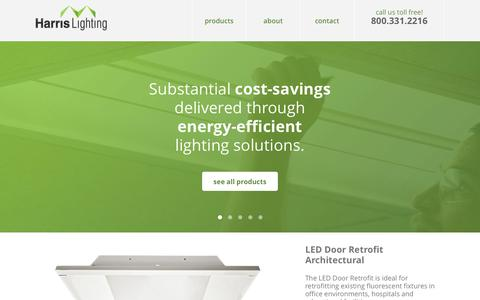 Screenshot of Case Studies Page harrislighting.com - Harris Lighting | The most trusted name in retrofit lighting - captured Sept. 29, 2014