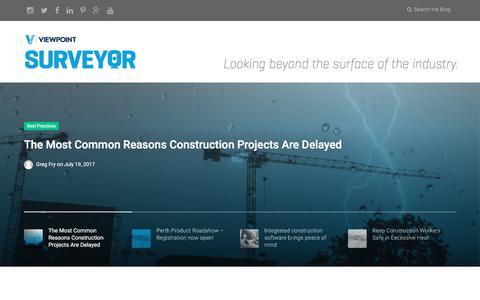 Screenshot of Blog viewpoint.com - Viewpoint Construction Software   Blog, News & Event - captured July 21, 2017