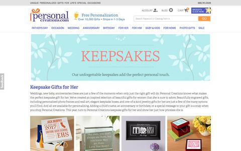 Unique Keepsakes for Her at Personal Creations