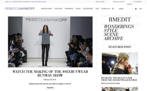 Rebecca Minkoff RM Edit | The Official Blog