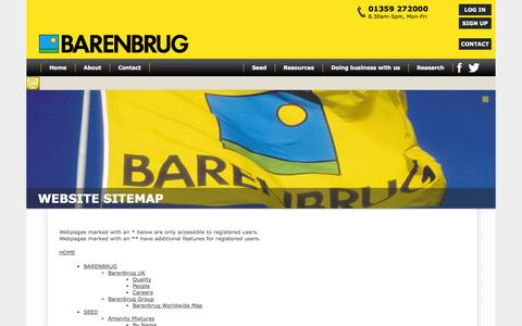 Screenshot of Site Map Page barenbrug.co.uk - Barenbrug - Sitemap - captured Sept. 30, 2014