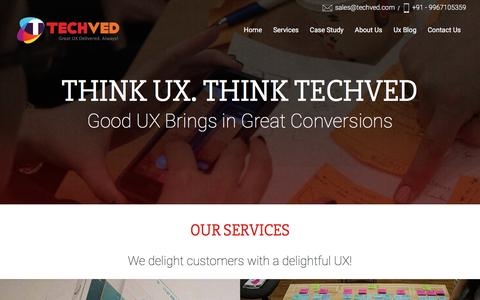 User Experience UX UI Design Company Mumbai India | Usability Testing services lab in mumbai | Techved