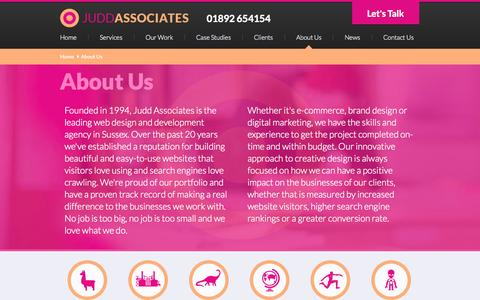 Screenshot of About Page juddassoc.com - About Us   Judd Associates - captured Oct. 6, 2014