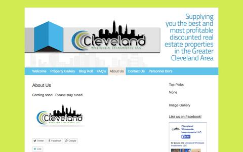 Screenshot of About Page 216reinvestments.com - About Us   Cleveland Wholesale Investments LLC. - captured Oct. 2, 2014