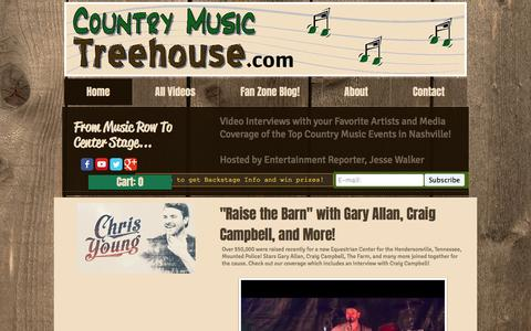 Screenshot of Home Page countrymusictreehouse.com - CountryMusicTreehouse.com| Video Interviews with Country Music Artists - captured May 21, 2017