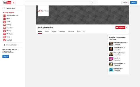 Screenshot of YouTube Page youtube.com - 247Commerce  - YouTube - captured Oct. 26, 2014