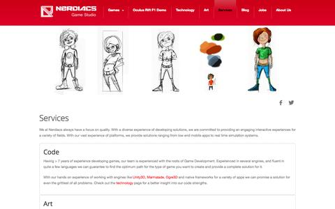 Screenshot of Services Page nerdiacs.com - Services - captured Oct. 7, 2014