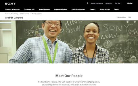 Sony Global - Global Careers - Meet Our People