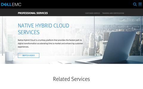 Screenshot of Services Page dellemc.com - Cloud Computing Application Transformation | Dell EMC US - captured Feb. 9, 2018