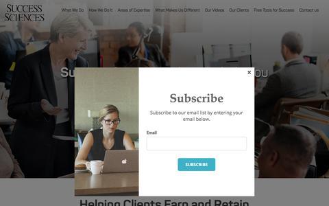 Screenshot of Home Page success-sciences.com - Success Sciences - captured Nov. 2, 2017