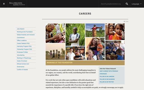 Careers - Bill & Melinda Gates Foundation