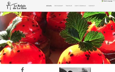 Screenshot of Home Page la-hire.com - Restaurant le Relais de la Hire - Restaurant le relais de La Hire - captured March 22, 2017