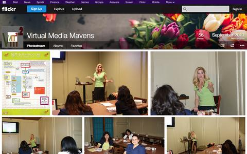 Screenshot of Flickr Page flickr.com - Flickr: Virtual Media Mavens' Photostream - captured Oct. 26, 2014