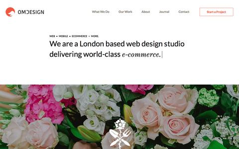 Web design London - Creative web design and web development studio from London