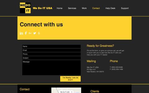 Screenshot of Contact Page wedoitusa.com - We Do IT USA | Contact - captured June 11, 2017