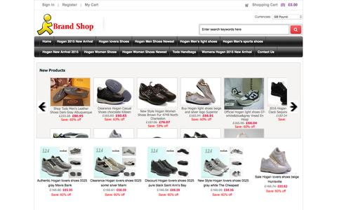 Screenshot of Home Page 20cc.co.uk - Store Hogan Men's Sports Shoes, Authentic Tods Handbags - captured Feb. 24, 2016