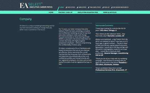 Screenshot of About Page ea-select.com - Company - EA Select - captured Sept. 26, 2014