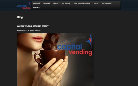 Screenshot of Press Page capitalvending.co.uk - Latest news from Capital Vending | Vending machines uk | Capital Vending - captured Sept. 30, 2014