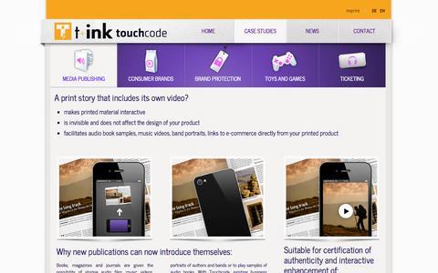 Screenshot of Case Studies Page touchcode.de - Touchcode: Media Publishing - captured Sept. 17, 2014