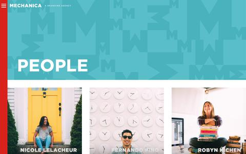 Screenshot of Team Page mechanicausa.com - People - Mechanica - captured June 28, 2018