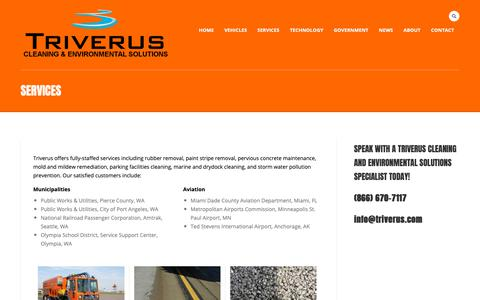 Screenshot of Services Page triverus.com - Services - Triverus Cleaning & Environmental Solutions - captured Oct. 20, 2018
