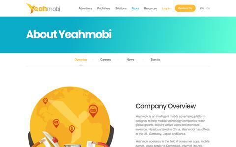Screenshot of About Page yeahmobi.com - About Us | Yeahmobi - captured Nov. 4, 2018