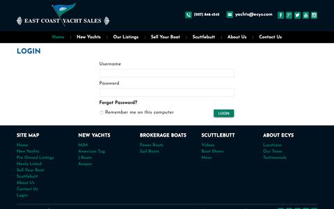 Screenshot of Login Page ecys.com - Login - captured Dec. 13, 2018